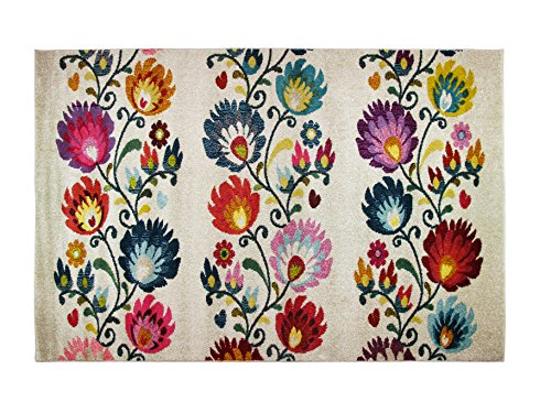Alfombrista Diseño 24 Alfombra Moderna Acrílico Multicolor 60x110x1 cm