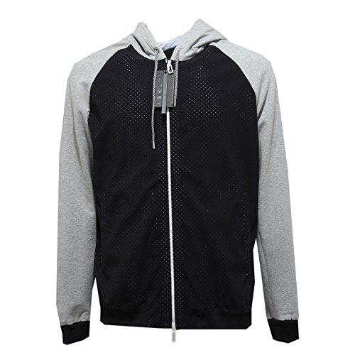 PAOLO PECORA 4099M Giubbotto Uomo Nero Jersey Cotone Bomber Men Coats Jackets [XXL]