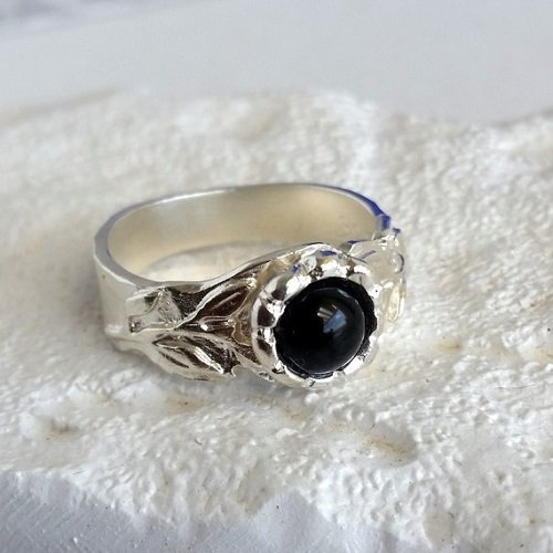 Women Ring| Art Deco Rotate Ring| Mooneye Onyx Handmade Ring| 925 Sterling Silver Ring| Ethnic Ring| Statement Ring| Moveable Ring||