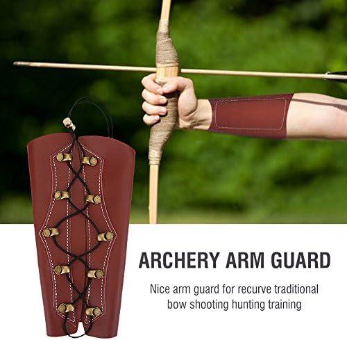 "ARCHERY ARM GUARD BROWN CHILDS 10/"" FULL LENGTH VINYL"