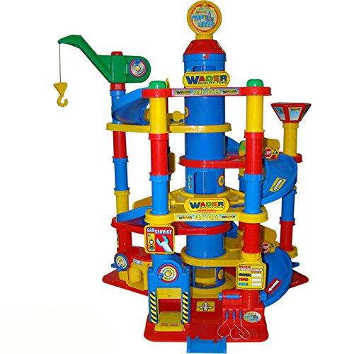 Avec bottes intégrées park garage tower, 7 niveaux de lave, garage, voiture, 59 x 77 cm-jouet voiture spielstrasse parkgarage parking
