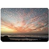 Juego de Alfombrillas de baño Antideslizantes,Lanzarote Atardecer Playa,Cómoda Alfombra de Piso Absorbente de Microfibra de Felpa Lavable 80x50cm
