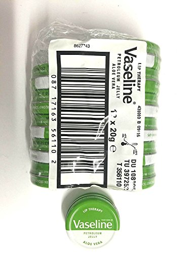 VASELINE LIP BALM TINS - [Aloe Vera (Green Tin),12]