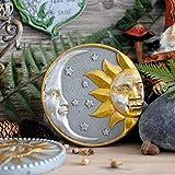 Ornamento Decoración De La Pared Vintage Viejo Sol Luna Dios Jardín Ornamento Cemento Paso A Paso Piedra,Moongod