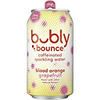 18-Pack Bubly Bounce Caffeinated Sparkling Water, Blood Orange Grapefruit, 12oz Cans