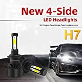 onedeal 2X 400W H7 LED Headlight Bulbs Conversion Kit High Low Beam For Car Truck LD2013