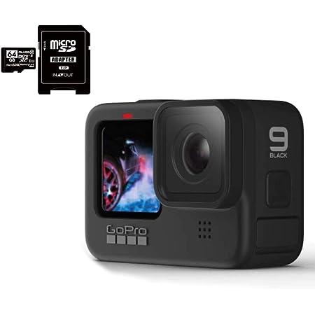 GoPro HERO9 Black ゴープロ ヒーロー9 ブラック ウェアラブル アクション カメラ CHDHX-901 + マイクロ SD カード 64GB + LafLIfeオリジナル 0.5m Cタイプ 予備充電ケーブル セット【並行輸入品】