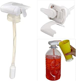 Magic Electric Tap Automatic Water/Drink Dispenser for Milk Juice Beer Spill Proof as seen on TV Beverage Dispenser for Party (white)