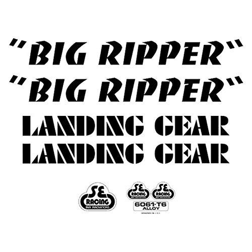 SE Bikes Big Ripper Aufkleber-Set Null schwarz