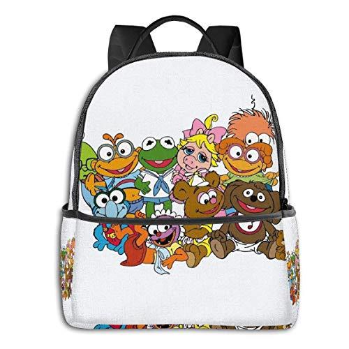 Muppet Babies-Group - Mochila escolar escolar para estudiantes, ciclismo, ocio y viajes