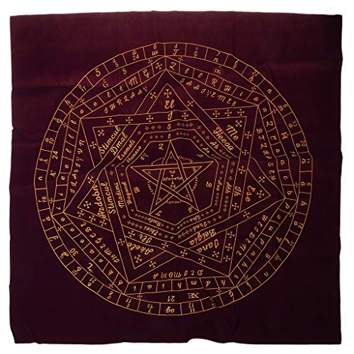 Fhdjcn 60 * 60cm Sigils of Elohim Mysterious Card Mantel Adivinación Altar Velvet Fabric Juego de Mesa Estera de Tarjeta