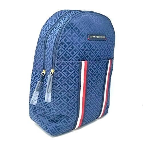 Tommy Hilfiger 7669 - Zaino per la scuola, per il tempo libero, 40 x 30 x 15 cm, con maniglia, colore: Blu