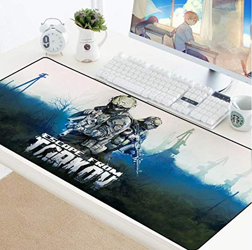 Mouse Pads Escape from Tarkov Mouse Pad Gamer Play Mats Computer Gaming Accessories Large Mousepad Rubber Games Pc Desk Pad B(40×90Cm)