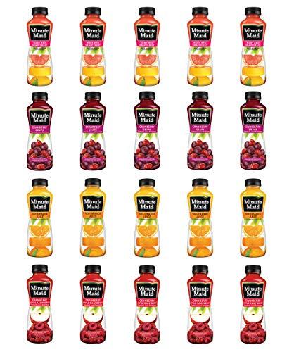 LUV BOX - Variety Minute Maid Juice Pack 12oz Plastic Bottle, 20ct.,Ruby Red Grapefruit Blend,100% Juice Orange,Cranberry Apple Raspberry,Cranberry Grape