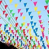 [page_title]-TK Gruppe Timo Klingler XXL Wimpelkette Stoff 100 Meter bunt Girlande Banner Fahne zum Aufhängen Indoor & Outdoor Draußen als Deko Dekoration für Feste, Party & Geburtstage UVM.