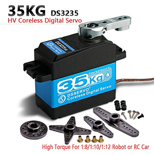 ZOSKAY 35kg high Torque Coreless Motor servo Metal Gear Digital and Stainless Steel Gear servo arduino servo for Robotic DIY,RC car (Control Angle 270°)