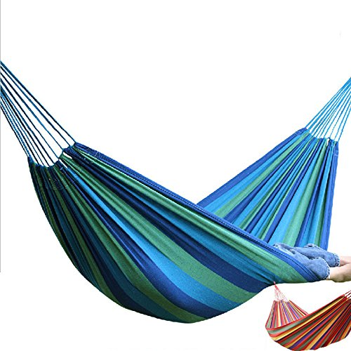 MONEYY Hamacs Swing intérieur Simple Double Toile roulement Outdoor Camping,2 * 1m,A3