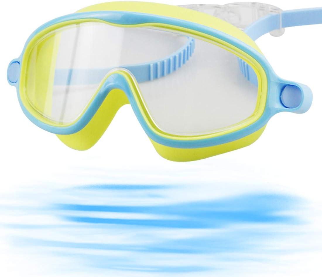 Gafas de natación Hanel-Gafas de Buceo para niños, Gafas de Buceo para niños, Gafas de Buceo, Resistentes al Agua, a Prueba de Fugas, protección UV, Correa de Silicona Ajustable