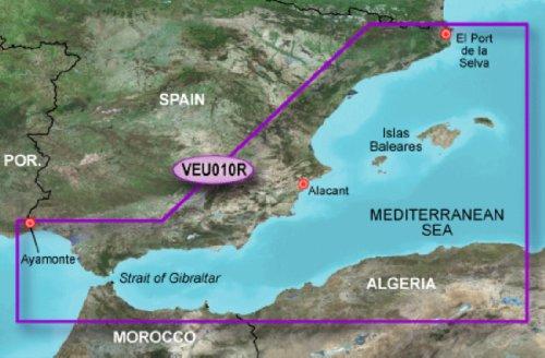 Review Of Garmin Bluechart VEU010R - Spain, Mediterranean Coast Maps 010-C0768-00