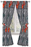 Disney Pixar Cars Lighnting Speed 84' Inch Drapes - Beautiful Room Décor & Easy Set Up, Bedding Features Lightning McQueen - Curtains Include 2 Tiebacks, 4 Piece Set (Official Disney Pixar Product)