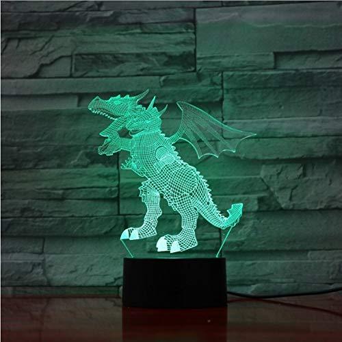 Fly Dinosaure 3D Lampe 5V Usb Led Lampe De Nuit Acrylique Lampe De Lave Avec Tactile