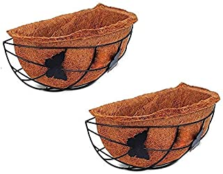 Coco Fiber Wall Hanger Half Butterfly Basket - Window Hanging Planter POTS Butterfly Design - Coir Liner - Basket Liner 12...