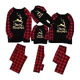 riou Weihnachten Schlafanzug Familie Pyjama Outfits, Zweiteilige Nachtwäsche Hausanzug Sleepwear...
