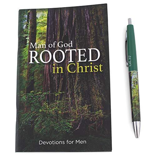 Christian Tools Affirmation Gift Set-Man of God Devotion Book & Pen (Colossians 2:6-7 ESV) (Dec)