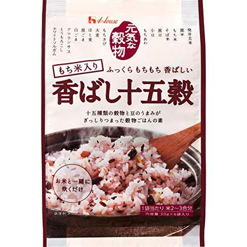 ハウス 元気な穀物 香ばし十五穀 30g×6袋