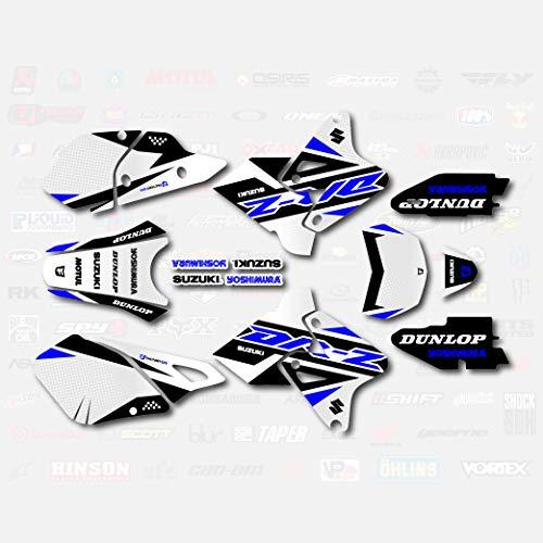 Boston Decal Works Blue Shift Graphics Kit fits Suzuki DRZ400SM Drz400s drz400 Supermoto DRZ