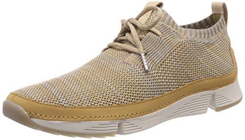 Clarks Herren Tri Native_Sneaker Niedrig, Braun (Light Tan), 42.5 EU