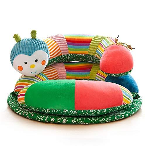 Ouqian Kleinkinder Sofas Säuglingsbaby-Stützsitz Lernen sitzen Sofa-Stuhl-Baby-Couch-Bett-entfernbares buntes Tier-abnehmbare und repositionierbare Spielwaren Kindersofas