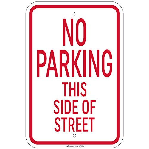 No Parking This Side of Street Sign 8