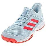 adidas Adizero Club Tennis Shoe, Sky Tint/Pink/White, 1 US...