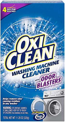 OxiClean Washing Machine Cleaner with Odor Blasters, 4 Count (2 Pack(4 Count))