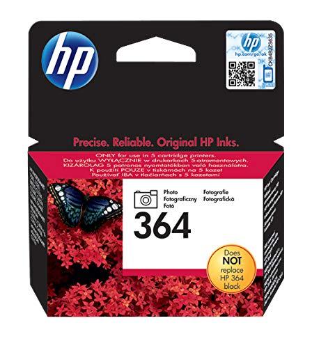 HP 364 Photo CB317EE, Cartuccia Originale da 130 Pagine, Compatibile con Le Stampanti a Getto di Inchiostro HP Photosmart 5510|5520|5525|6510|6520|7510|7520|B8550|C5380|C6380|D5460, Nero