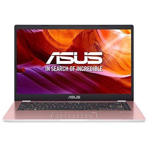 "ASUS E410MA-EK017TS - Portátil de 14 "" FullHD (Intel Celeron N4020, 4GB RAM, 64GB EMMC, Intel UHD Graphics, Windows 10 Home en modo S) Rosa Oro - Teclado QWERTY español"