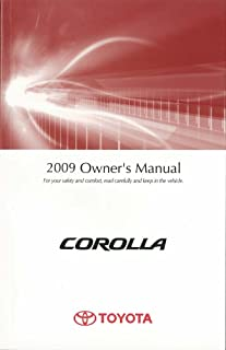 bishko automotive literature 2009 Toyota Corolla Owners Manual User Guide Reference Operator Book Fuses Fluid