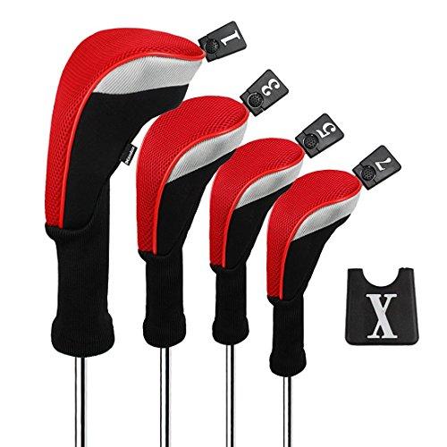 Andux Golf Pilote Bois Head Covers pour Driver 460CC Long...