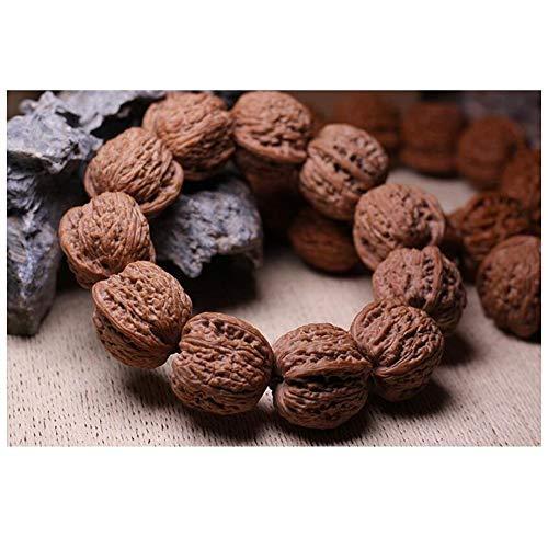 ZYLE Nuez de Mano, Pulsera de Madera de Nogal Antiguo, artesanías Chinas, Silvestre pequeña Nuez, 34mm