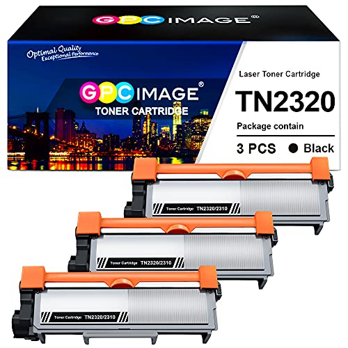 GPC Image Kompatible Tonerkartusche als Ersatz für Brother TN2320 TN2310 für MFC L2700DW L2720DW DCP-L2520DW L2560DW L2500D HL-L2365DW L2360DN L2340DW L2300D(Schwarz, 3er-Pack)