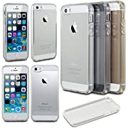 Case Ace Scratch-resistant 5S Slim Clear Silicone for Apple Iphone Rubber Case Cover 5 / 5S / 5G Crystal Clear (Clear)