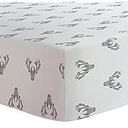 Kushies Crib Sheet Flannel, Deer Black & White