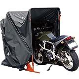 コミネ(KOMINE) バイク用 簡易車庫 モーターサイクルドームF ダークグレー フリー AK-133