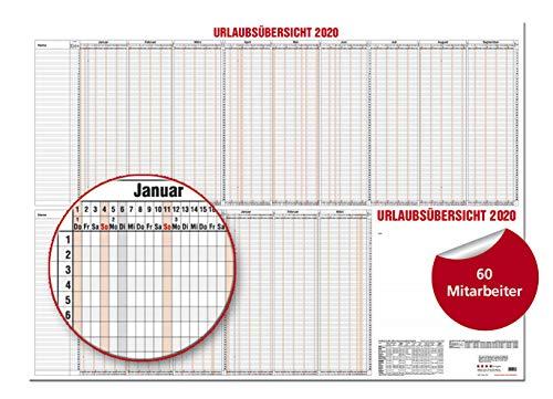 Personalurlaubsplaner für 25 Personen PLANORAMA 2020 von Brunnen