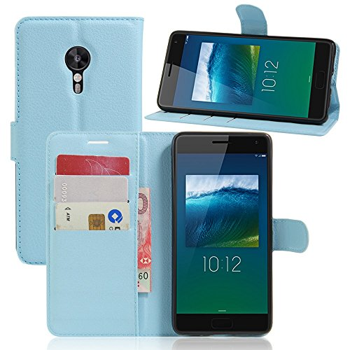 Tasche für Lenovo ZUK Z2 Pro (5.2 zoll) Hülle, Ycloud PU Ledertasche Flip Cover Wallet Case Handyhülle mit Stand Function Credit Card Slots Bookstyle Purse Design blau