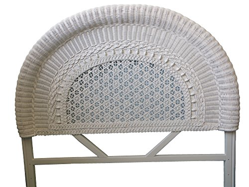 Spice Islands Round Back Double Headboard, Null, White