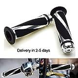 "Aikrituire7/8"" 22mm Universal Motorcycle Handlebar Grips Handle Bar Anti-Slip Rubber (5)"