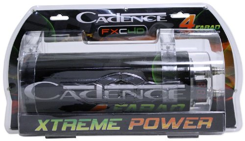 Cadence Fxc4d 4 Farad / 12 Volt Digital Power Capacitor with 24 Volt Surge Capacity and Digital Display