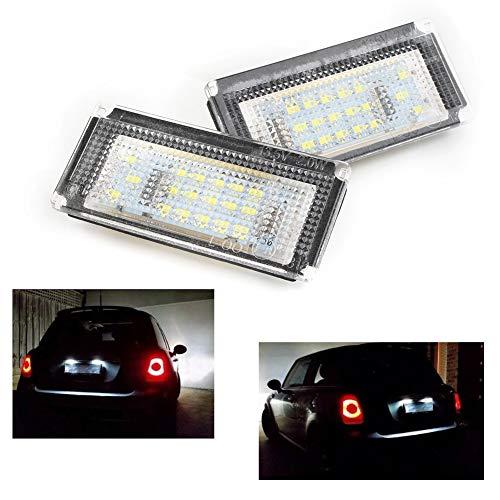 Luces de matrícula de Coche 2pcs Accesorios de automóviles compatibles con BMW Mini Cooper R50 R51 R52 R53 Auto Lighting LED LED LIRTULAR Light LUCTURAS Universal